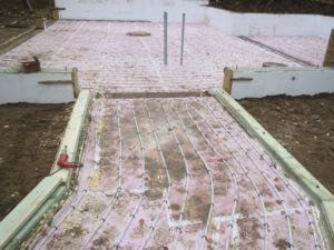 huisman concepts, in-floor heating tubes, insulation, lake home