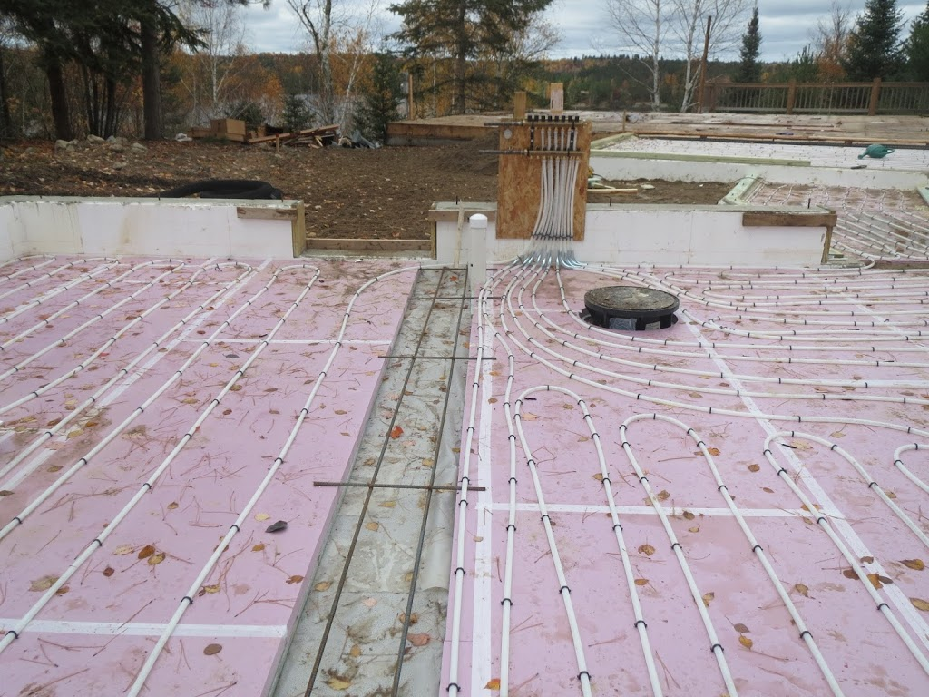 hot water in floor heating tubes custom lake home huisman u2026