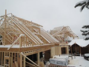 huismanconcepts, roof trusses, custom lake home, ely minnesota