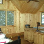 Log home Loft office