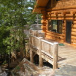 Log house, railings Ipe decks