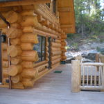Ipe decks, log railing