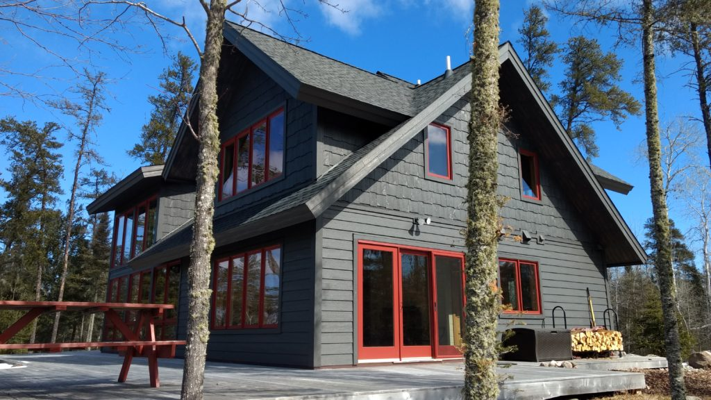 Timber Frame Home Dark Lp Siding And Marvin Wineberry