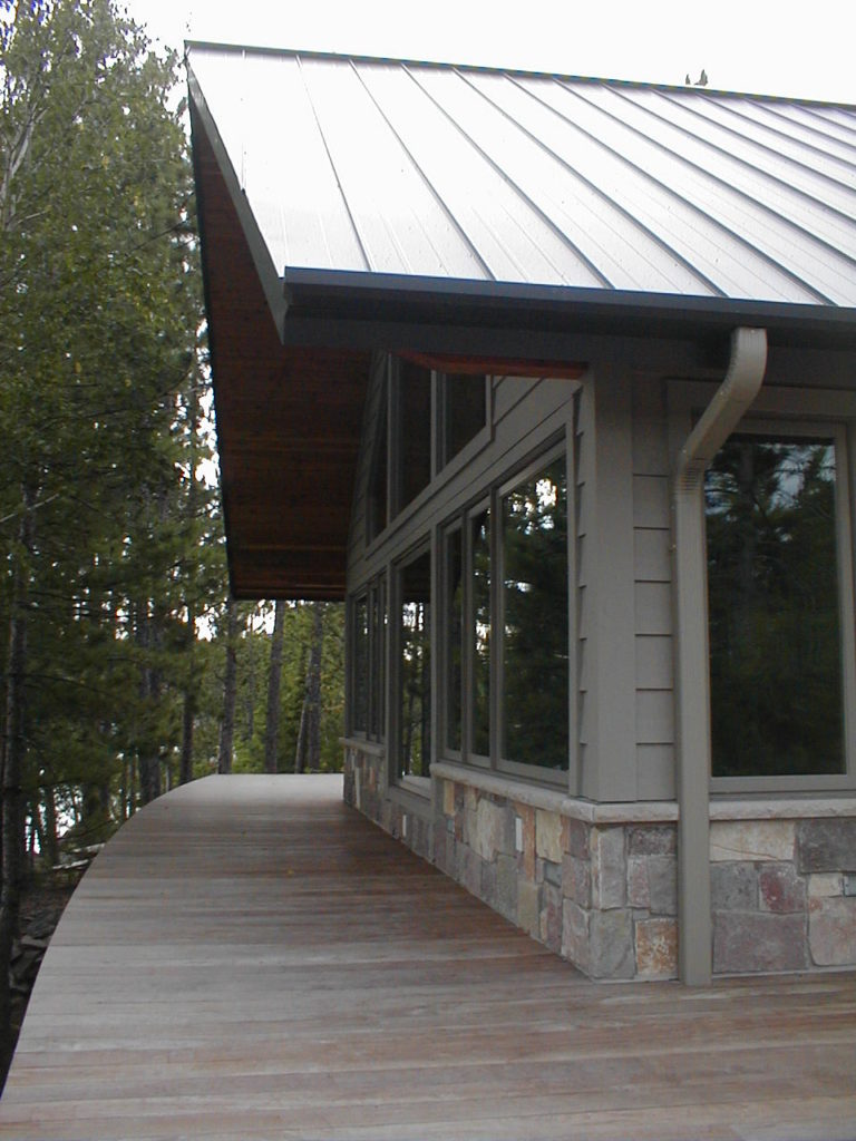 gray stained cedar siding